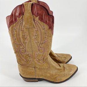 Coconuts brown cowboy boots